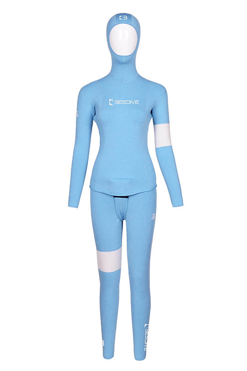 BESTDIVE 3mm女士藍洞系列防寒衣 魅力藍