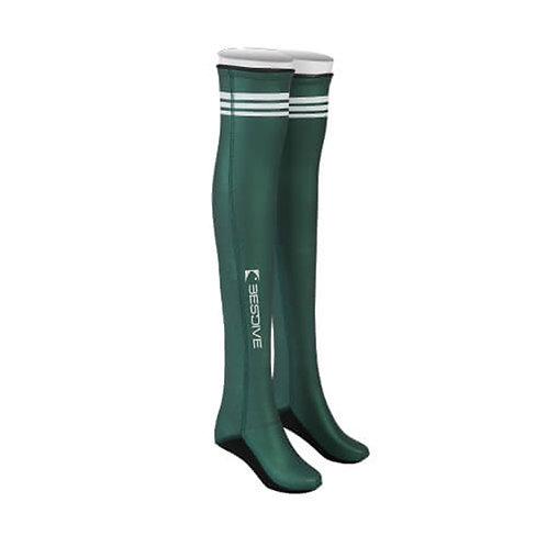 BESTDIVE 2mm氯丁橡膠過膝潛水襪 摩洛哥綠