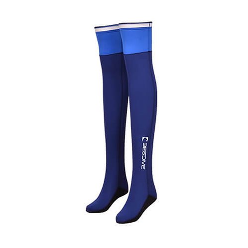 BESTDIVE 2mm氯丁橡膠過膝潛水襪 藏青/寶藍