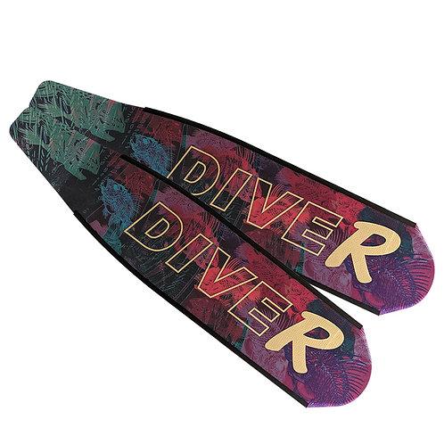 DIVER 粉紅骨魚 碳纖維長蛙鞋板