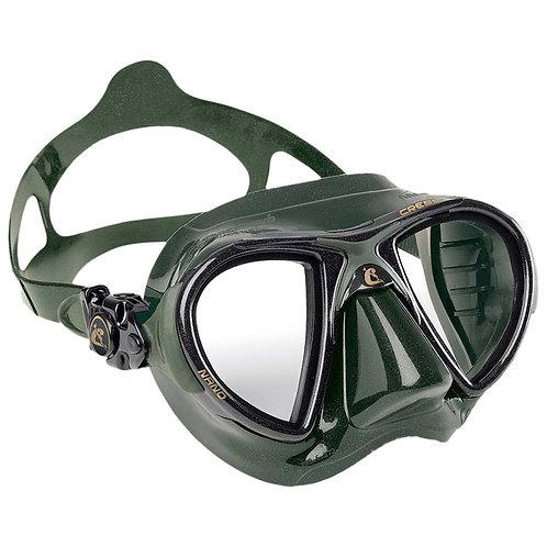 Cressi Nano 義大利進口玻璃低容積面鏡 綠色
