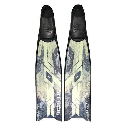 普魯士藍 藍紋玻璃纖維長蛙鞋板