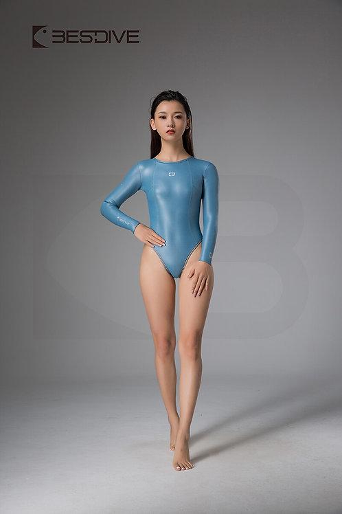 BESTDIVE 2mm女士靈秀系列比基尼防寒衣 露背款 晨暮藍