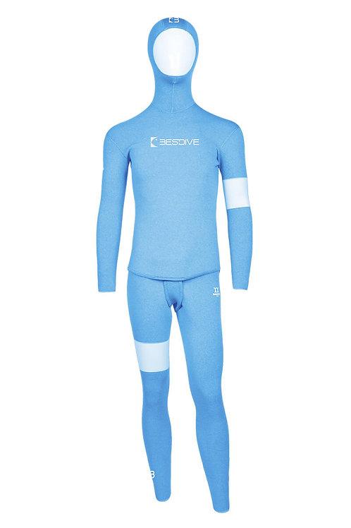 BESTDIVE 3mm男士藍洞系列防寒衣 魅力藍