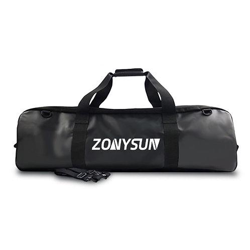 ZONYSUN 亮皮面蛙鞋防水裝備袋 黑色
