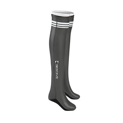 BESTDIVE 2mm氯丁橡膠過膝潛水襪 深邃灰