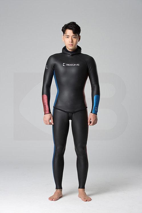 BESTDIVE 3mm男士炫彩秀頎系列防寒衣 石墨黑/加勒比藍/波爾多酒紅