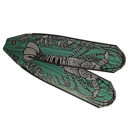 DIVER 小龍蝦 碳纖維長蛙鞋板 ( 不含腳套 )