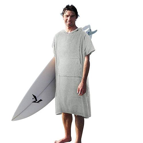 純棉毛巾布材質毛巾衣 灰色 (非快乾布)