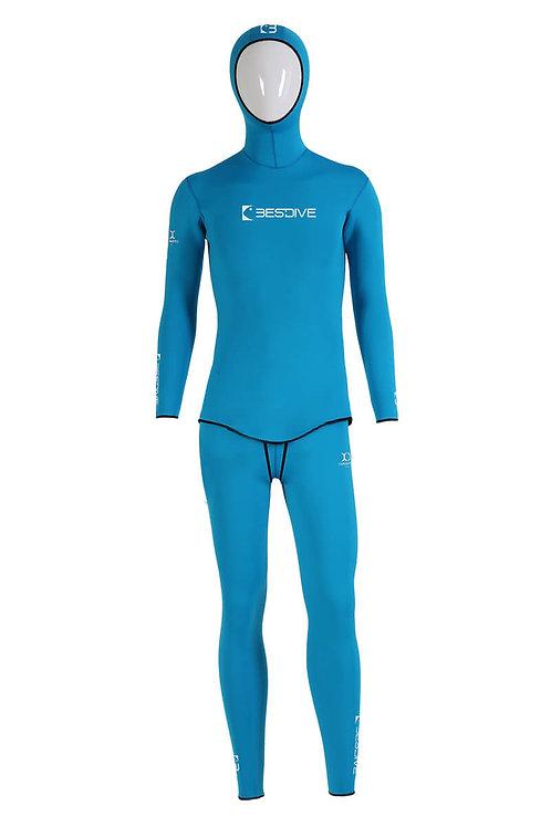 BESTDIVE 3mm男士藍洞系列防寒衣 湖藍色