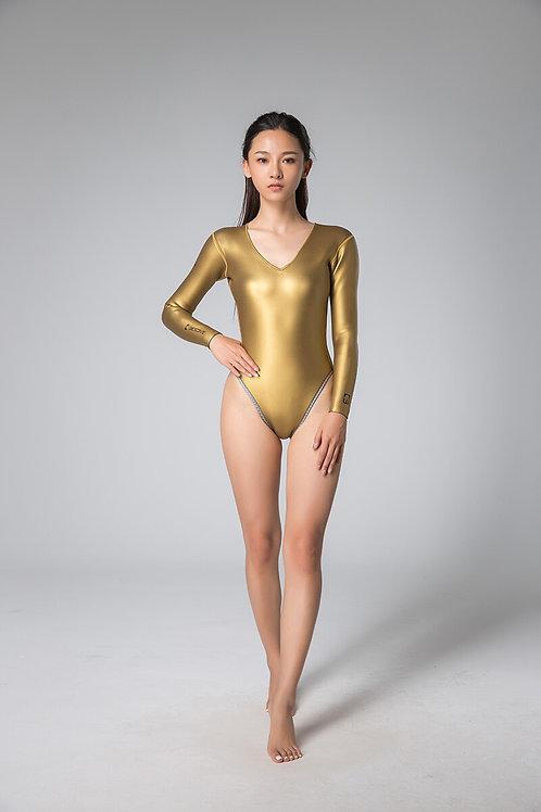 BESTDIVE 2mm女士綻放系列比基尼防寒衣 炫彩金