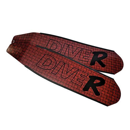 DIVER 紅色 Innegra碳纖維長蛙鞋板