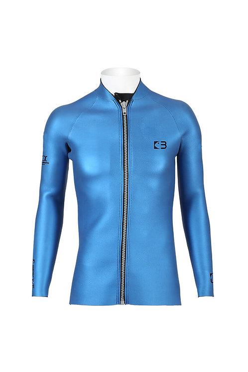 BESTDIVE 3mm男士炫彩拉鍊夾克 加勒比藍