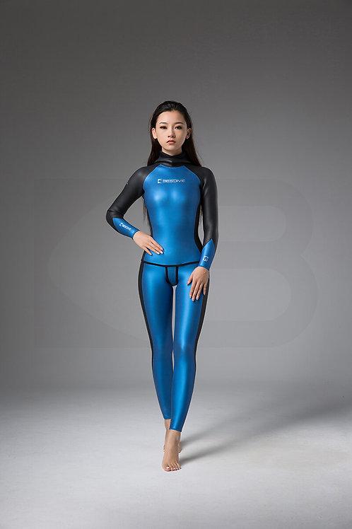 BESTDIVE 3mm女士炫彩秀頎系列防寒衣 加勒比藍/石墨黑