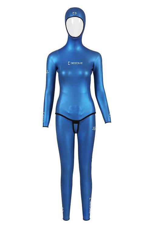 BESTDIVE 3mm女士經典炫彩防寒衣 加勒比藍