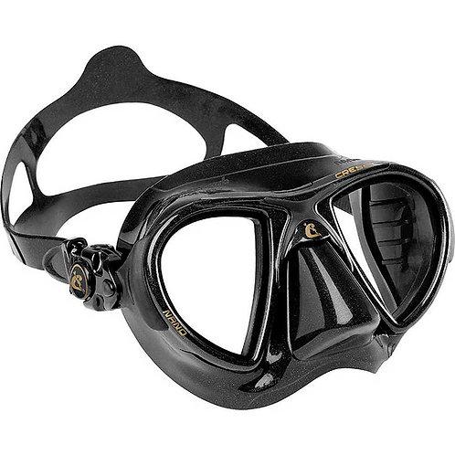 Cressi Nano 義大利進口玻璃低容積面鏡 黑色
