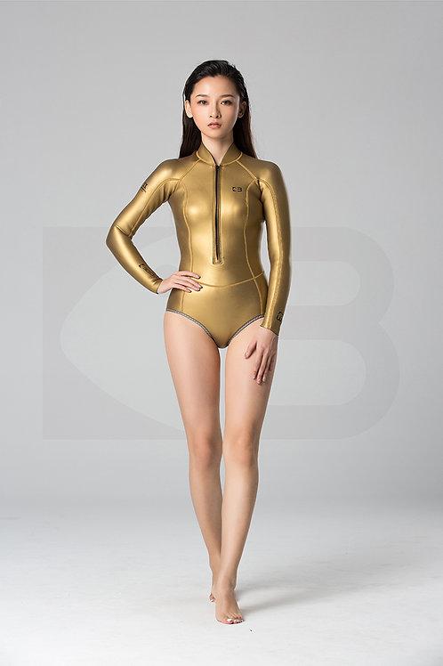 BESTDIVE 2mm女士經典炫彩比基尼 炫彩金