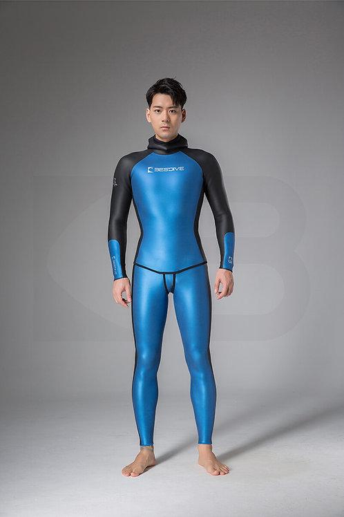 BESTDIVE 3mm男士炫彩秀頎系列防寒衣 加勒比藍/石墨黑