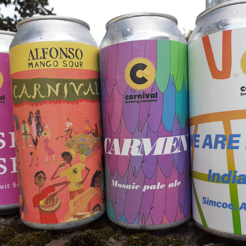 A fine selection of Carnival cans