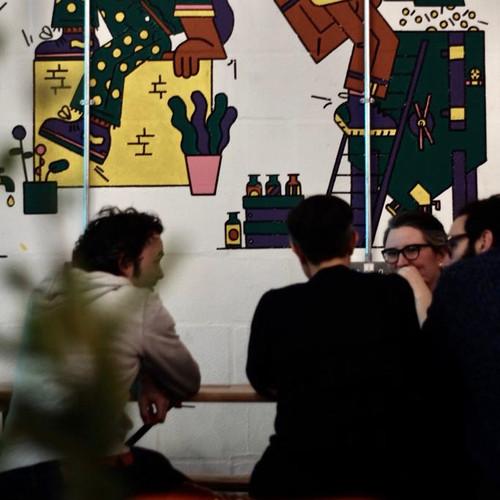 Customers enjoying the Carnival Tasting Room vibe
