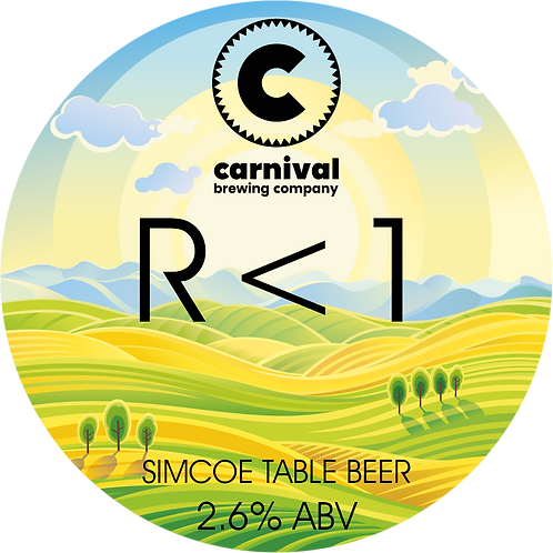 R < 1 - 2.6% Simcoe Table Beer - 440ml Crowler Fill