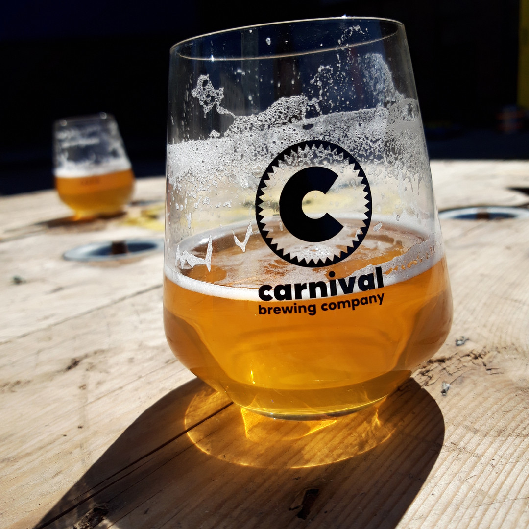 Glass of Carnival beer