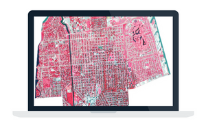 Article on georeferencing in the Esri ArcGIS Pro software, particularly focusing on showing impervious surfaces in urban areas.