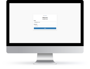 Desktop interface showing a Single Sign-On (SSO) window for a user to log-in to an application with Tableau credentials via Auth0.