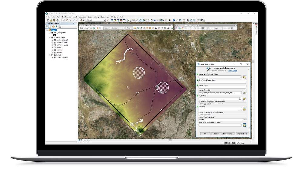 Blog post on the software solutions offered by Integrated Informatics Inc including ArcGIS applications for Decision Support, including Integrated Geomancy for optimizing placement of Oil and Gas assets like Well Pad Sites and pipelines.