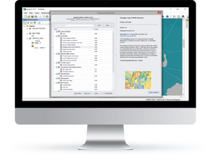 Desktop view of Integrated Marco Palette Add-In created by Integrated Informatics Inc for Esri ArcGIS.