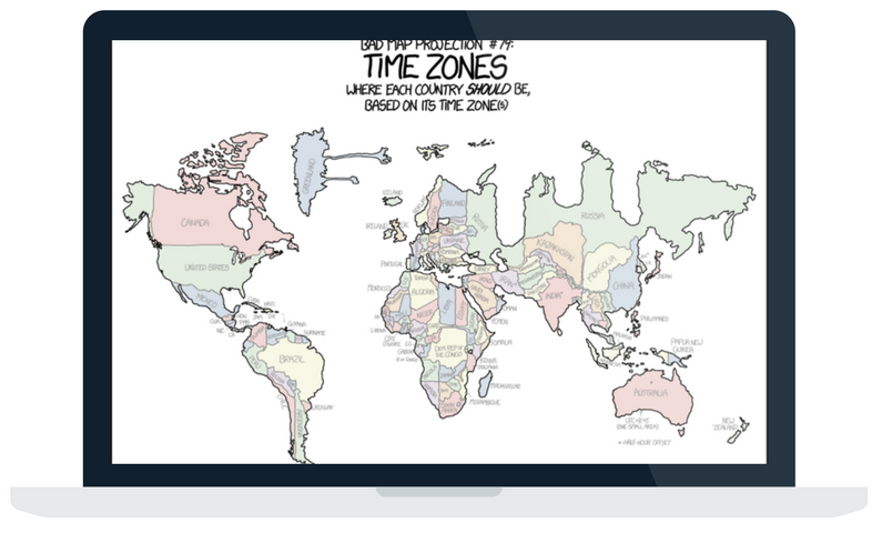 Article on bad map projections.