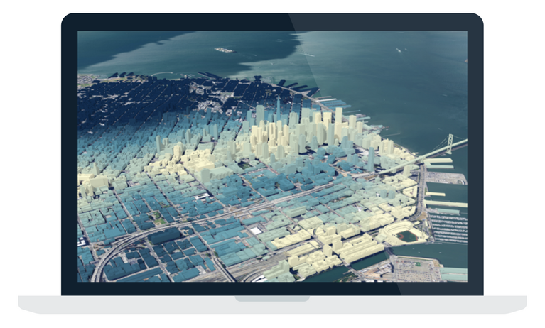 Desktop view of a map in ArcGIS Pro.
