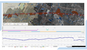 Blog post about enhancing fate and transport modeling or overland flow of Oil and Gas pipeline spills with Geographic Information System GIS application technology, as shown on an Alignment Sheet.