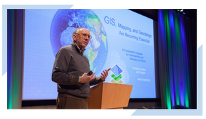 Article on Jack Dangermond from Esri discussing the building blocks of employing Geographic Information System (GIS) technology for Smart City development.