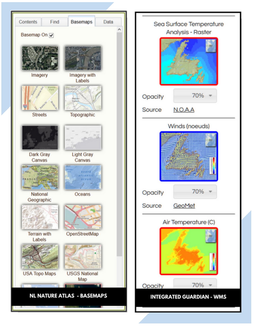 Blog post series on common features and elements in Geographic Information System GIS web applications and web maps, including the importance of including a comparison of third-party and supplemental data like WMS layers that can be included in a mapping application.