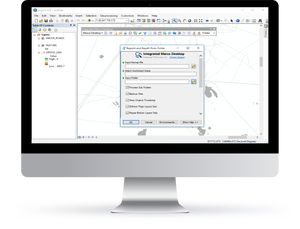 Desktop view of Integrated Marco Desktop or Repoint and Repath Add-In created by Integrated Informatics Inc for Esri ArcGIS.