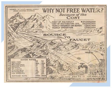 Map showing a 1922 electric bill in Los Angeles, CA.
