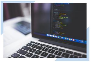 Software developer programming application.