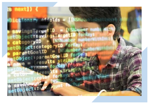Students learn to program, develop, and code in a Coding in Schools education program.