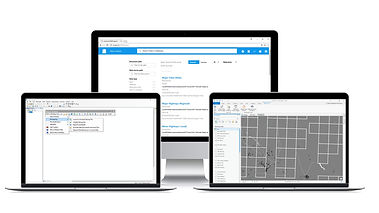 Product website for Integrated Marco Studio applications for managing Esri ArcGIS spatial data on an enterprise server system.