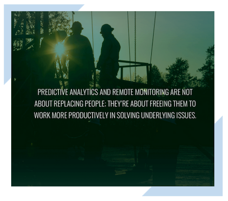 Quote about predictive analytics and remote monitoring with technology in the Oil and Gas industry.