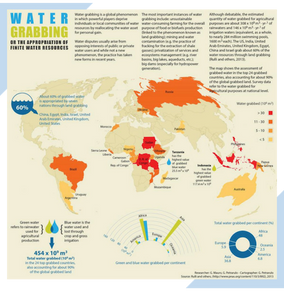 Map of the day post on a map depicting water grabbing, or the political appropriation of finite resources between regions.