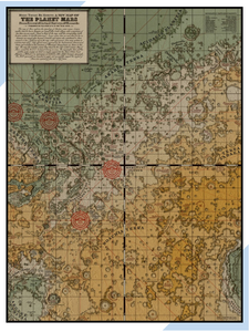 View of Medieval Map of Mars.