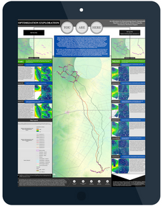 Article showing different options for asset placement routes in the Oil and Gas industry as determined by the Integrated Geomancy toolkit for ArcGIS.
