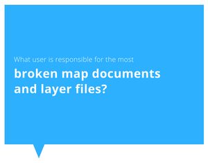 Blog series on reviewing spatial data and identifying broken files and issues, including finding which users are responsible for broken data and could use more training.