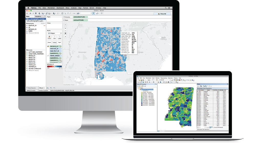 Blog post on the software solutions offered by Integrated Informatics Inc including ArcGIS applications for Specialty Use Cases, including Integrated Portage for converting ArcGIS data formats to Tableau.