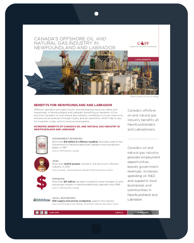 Infographic showing the benefits of offshore oil in Newfoundland and Labrador.