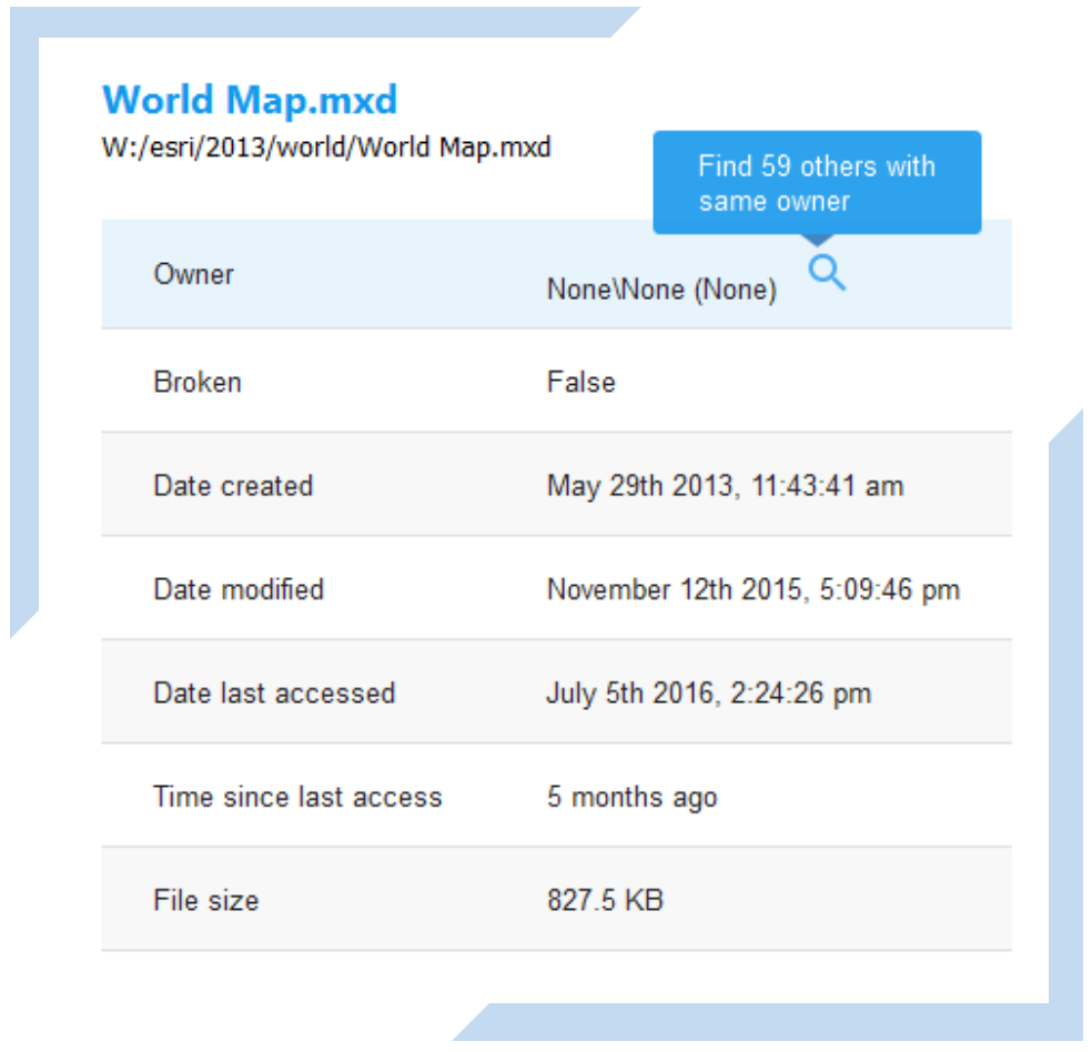 View of spatial data file details as shown in Integrated Marco Mystic web application.