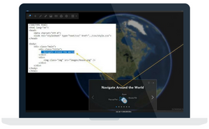 Desktop view of the ArcGIS Earth web application.