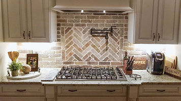 Custom Brick Backsplash